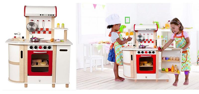 Hape E8018 Cocina de juguete de madera, multicolor